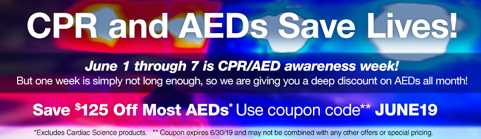 Save $125 off Most AEDs