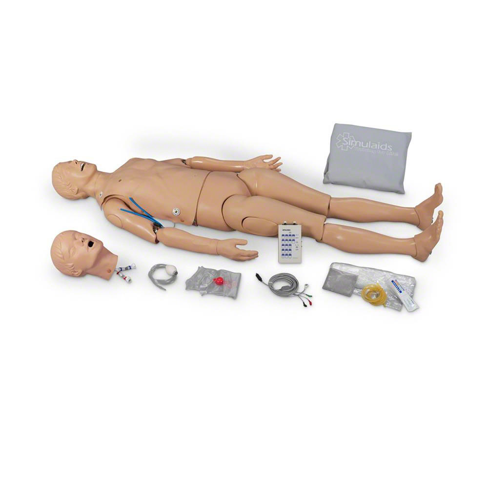 Simulaids® ALS Full Body Manikin with Extra Arm & Carry Bag