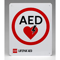 Physio-Control AED Wall Sign Flat w/Traditional Logo