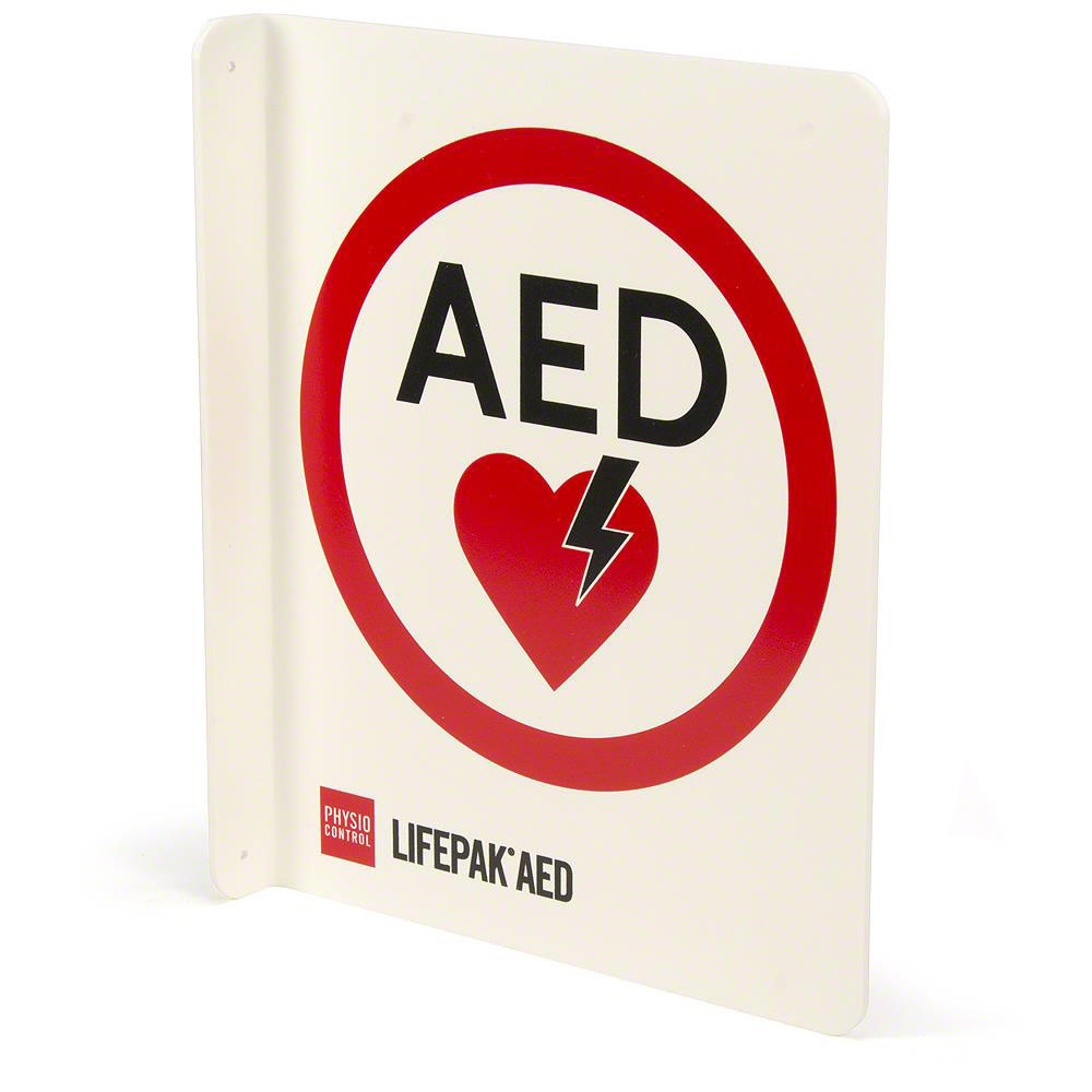 Physio-Control AED Wall Sign T-Mount