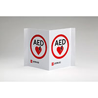 Physio-Control AED Wall Sign Tent Style w/Traditional Logo
