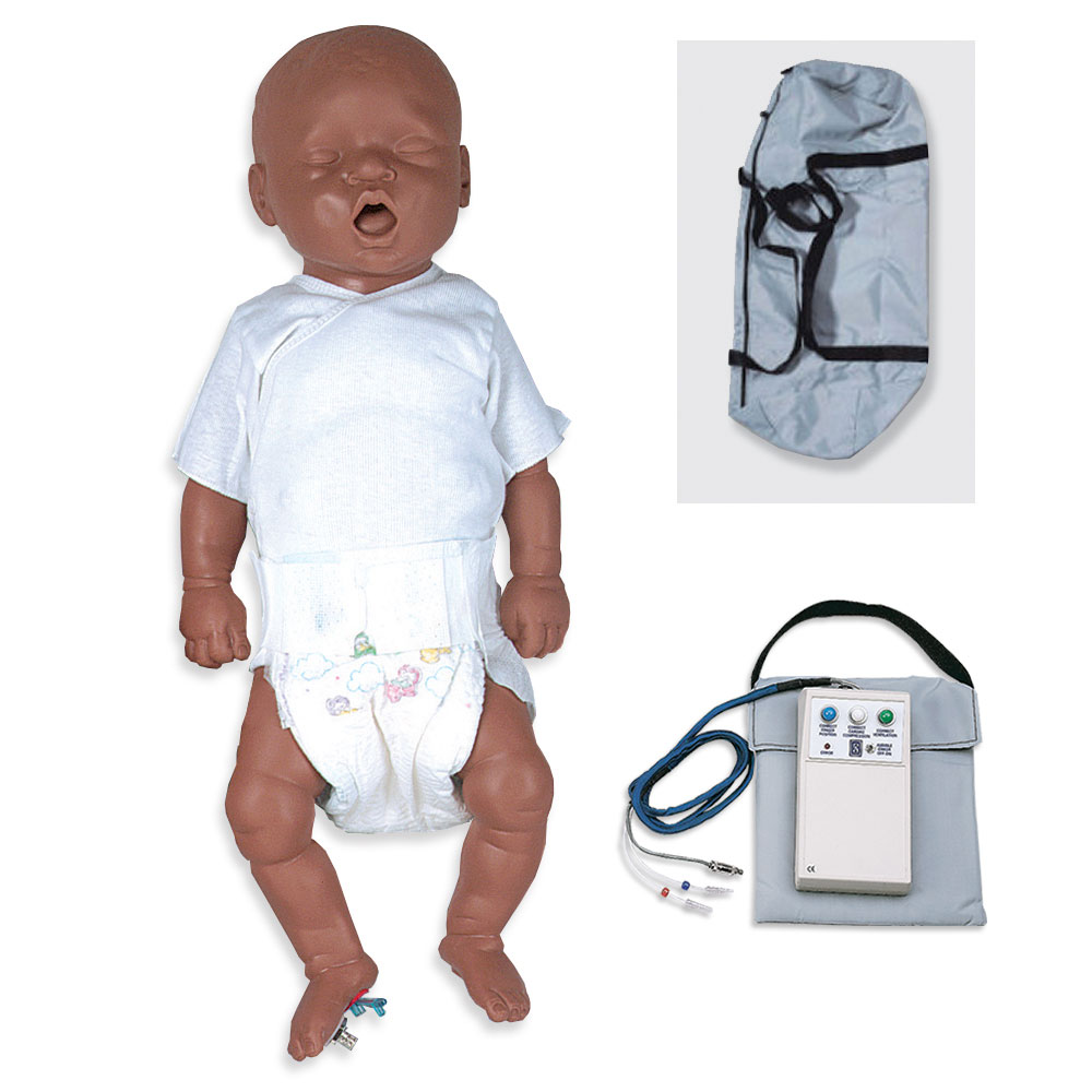 Simulaids CPR Bonnie African-American Newborn Basic w/Carry Bag w/Electronics