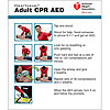 AHA 2015 Heartsaver Adult CPR AED Wallet Card- 100 pk