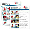 AHA 2015 Heartsaver Child & Infant CPR AED Wallet Card- 100 pk