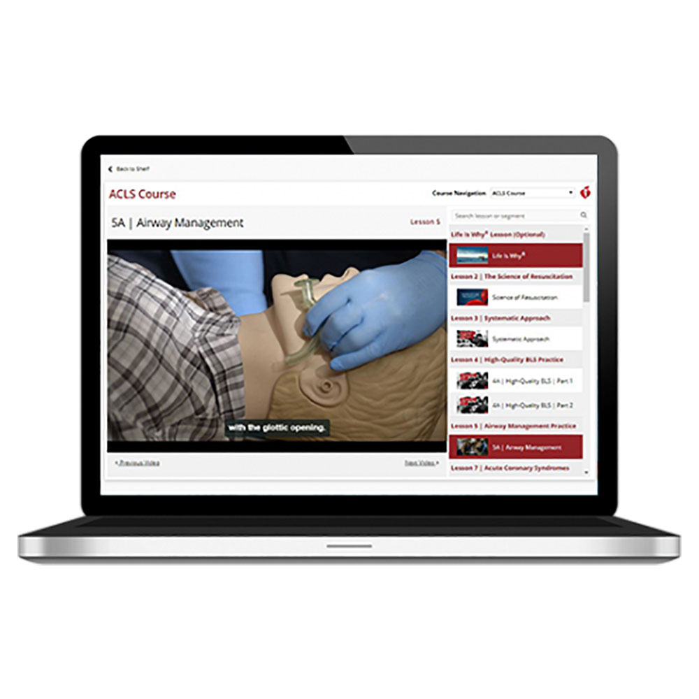 AHA 2015 ACLS Course Online Streaming Video  Key Code