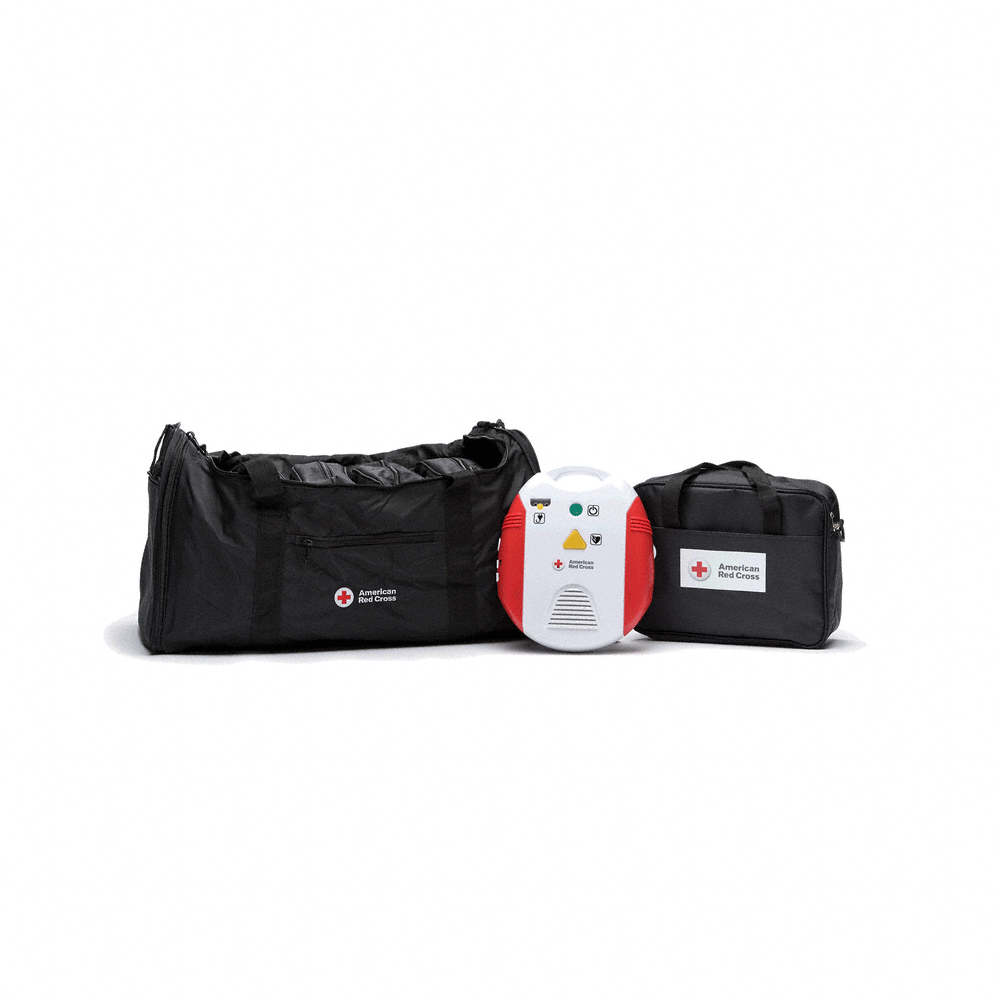 Red Cross AED Training Device w/Multi-Language USB Port, Metronome, & Carrying Case 6-Pack