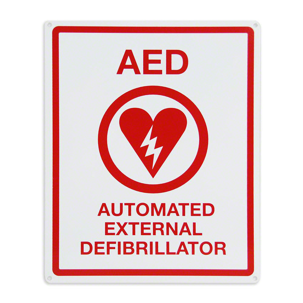 AED Flat Wall Sign-Metal