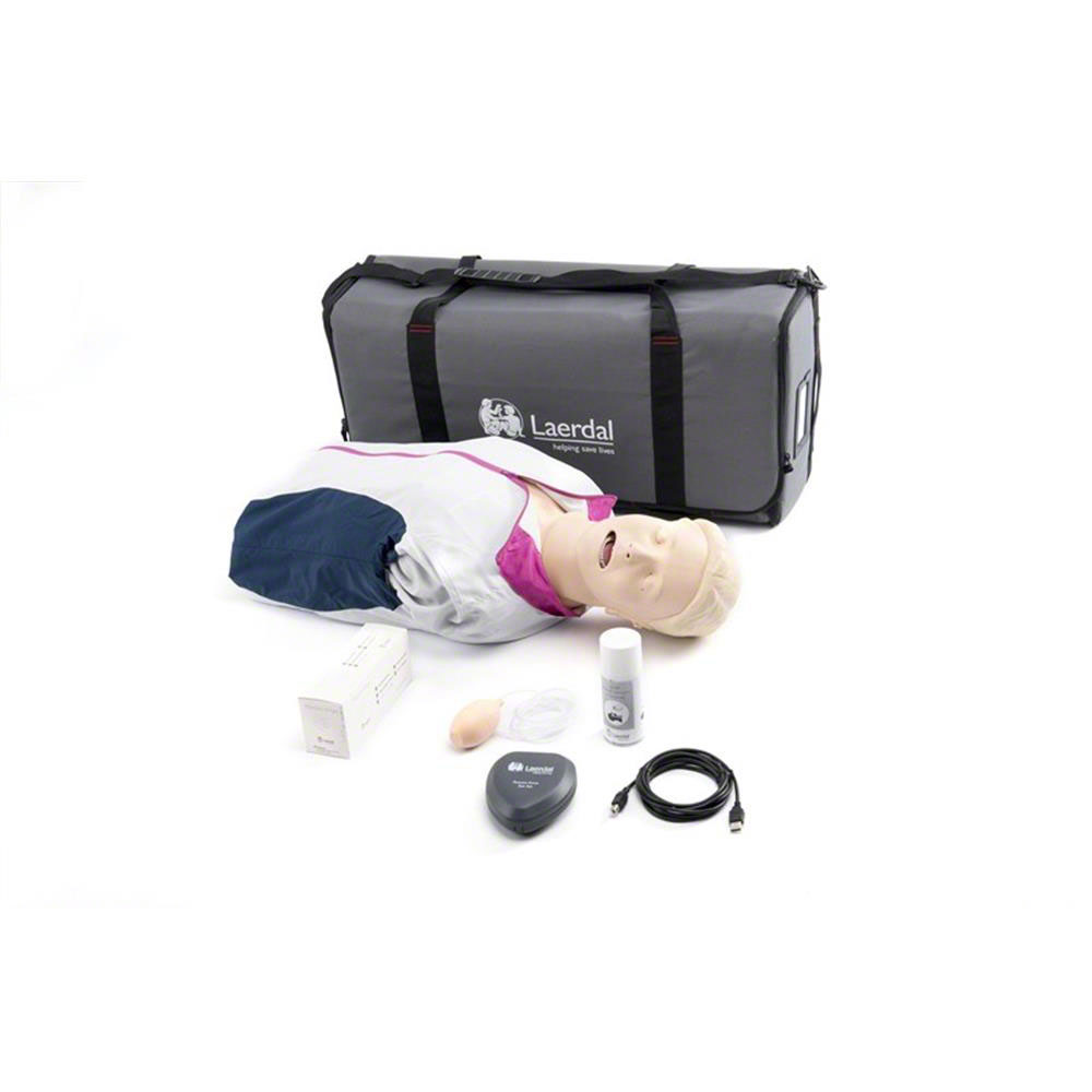 Laerdal Resusci Anne QCPR Torso w/Carry Bag - Rechargeable