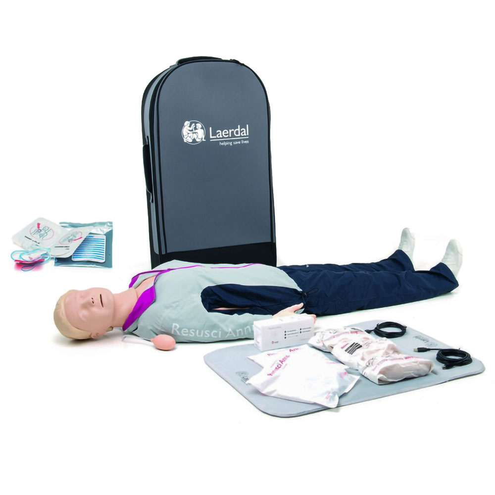 Laerdal Resusci Anne QCPR AED Full Body w/Trolley Case - Rechargeable