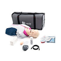 Laerdal Resusci Anne QCPR AED Torso w/Airway Head w/Carry Bag