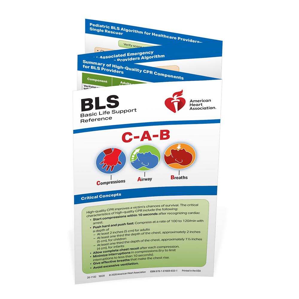 AHA 2020 BLS Reference Card