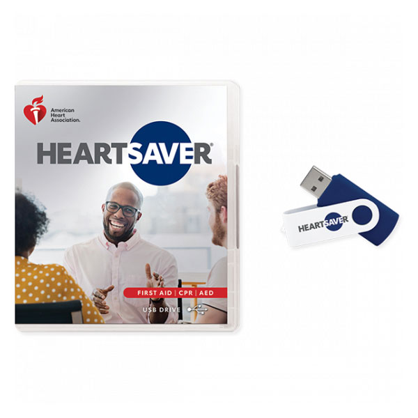 AHA 2020 Heartsaver First Aid CPR AED Course Videos on USB Drive
