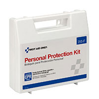 FAO 13 Piece Personal Protection Kit w/6 Piece CPR Pack & Plastic Case
