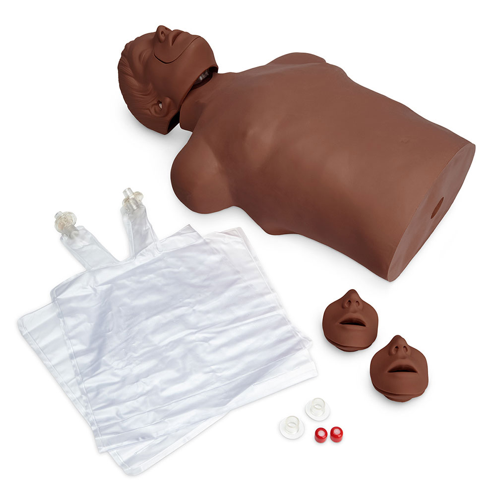 Simulaids CPR Brad Ethnic Manikin w/Carry Bag