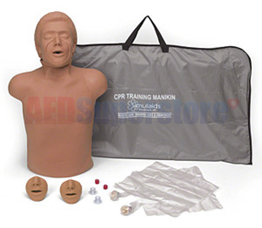 Simulaids Helal Ethnic CPR Manikin w/Electronics & Carry Bag