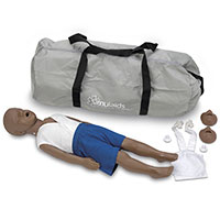 Simulaids 3-Year-Old Kyle African-American Manikin w/Carry Bag