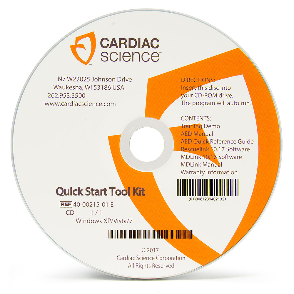 Cardiac Science Powerheart® AED G3 Plus Quick Start CD Toolkit