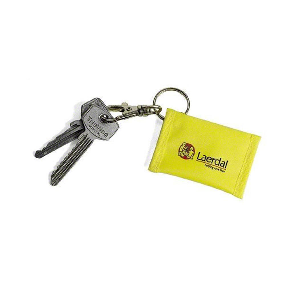 Laerdal Face Shield CPR Barrier Keychain Yellow (25 pk)