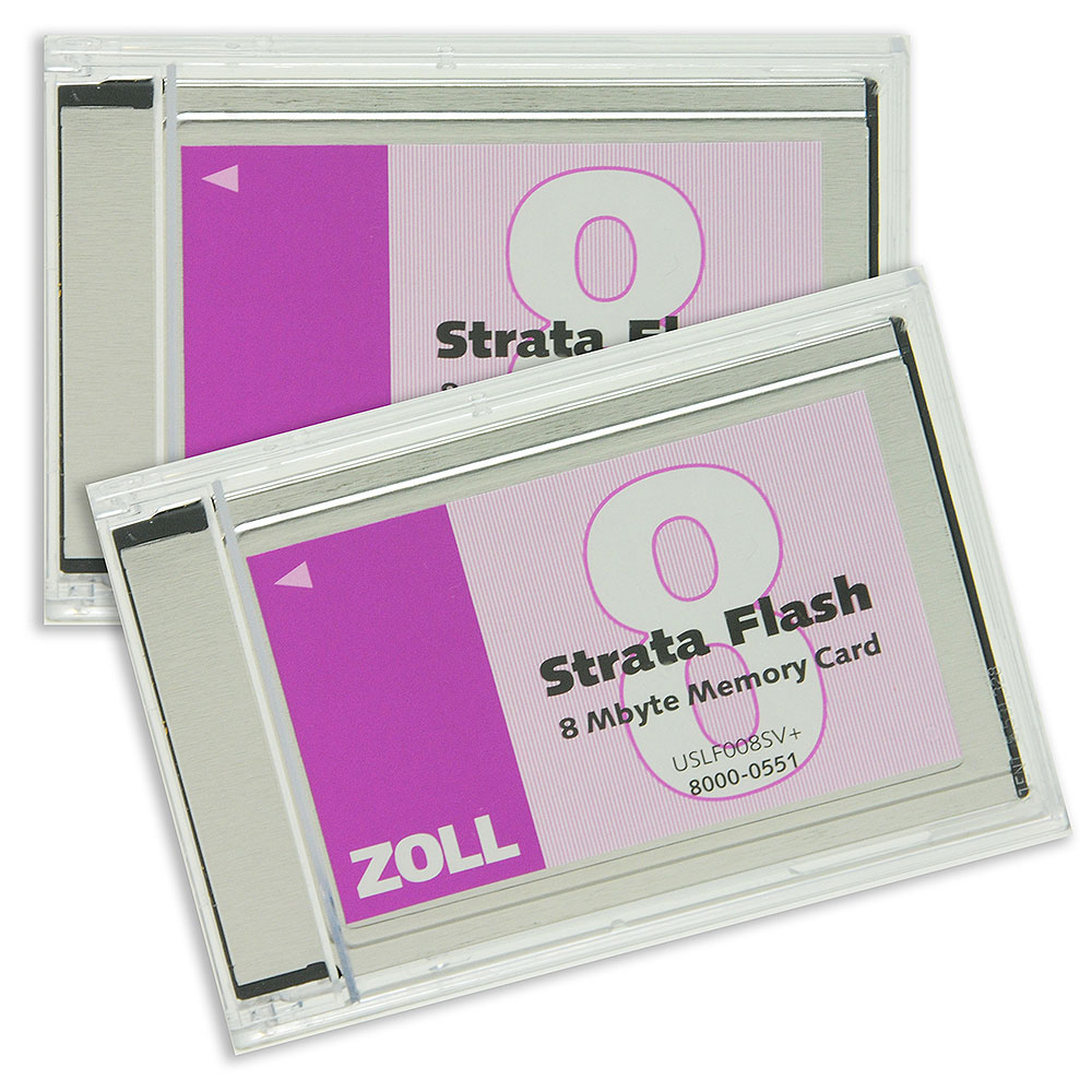 PCMCIA Data Cards (package of 2) for ZOLL E & M Series Defibrillators