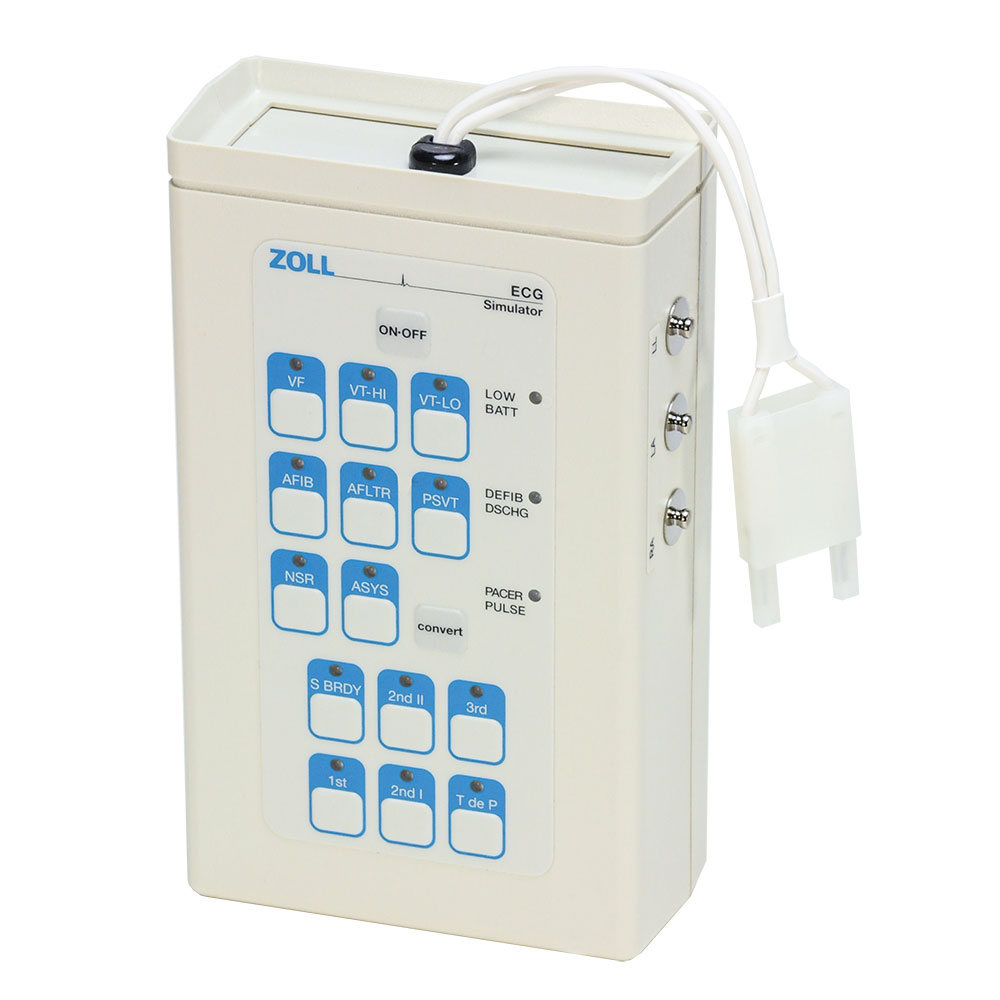 ECG Simulator for ZOLL M & R Series Defibrillators