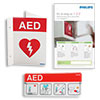Philips AED Awareness Sign Bundle - Red