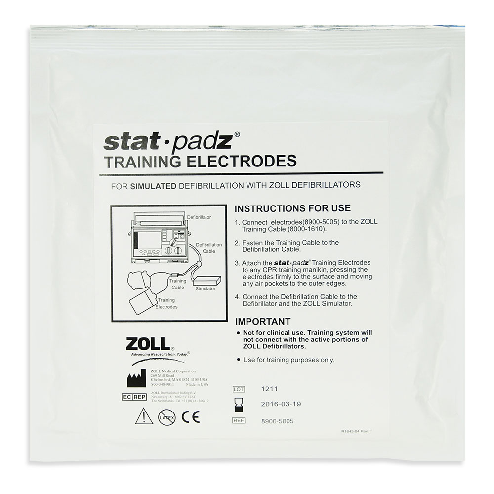 Training Electrodes, Stat Padz (package of 6) for ZOLL E & M Series Defibrillators