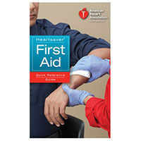 AHA Heartsaver First Aid Quick Reference Guide(AHA 2010 Edition)