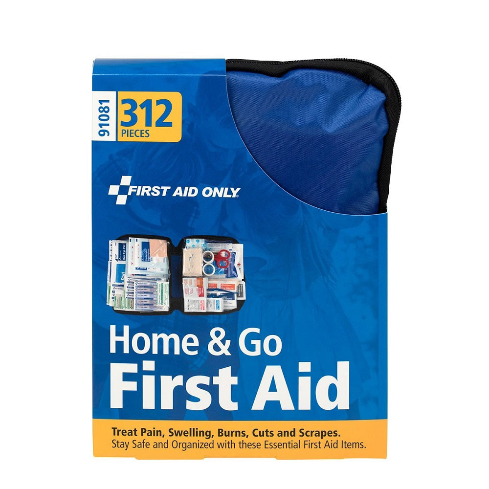 FAO Home & Go 312 Piece First Aid Kit, w/Soft-sided Case