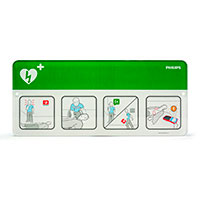 Philips AED Awareness Sign Placard - Green