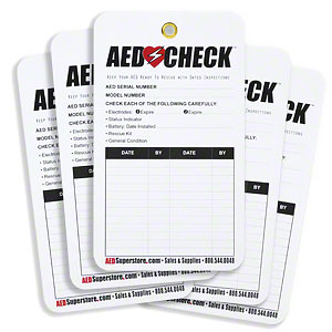 AED Check Tags