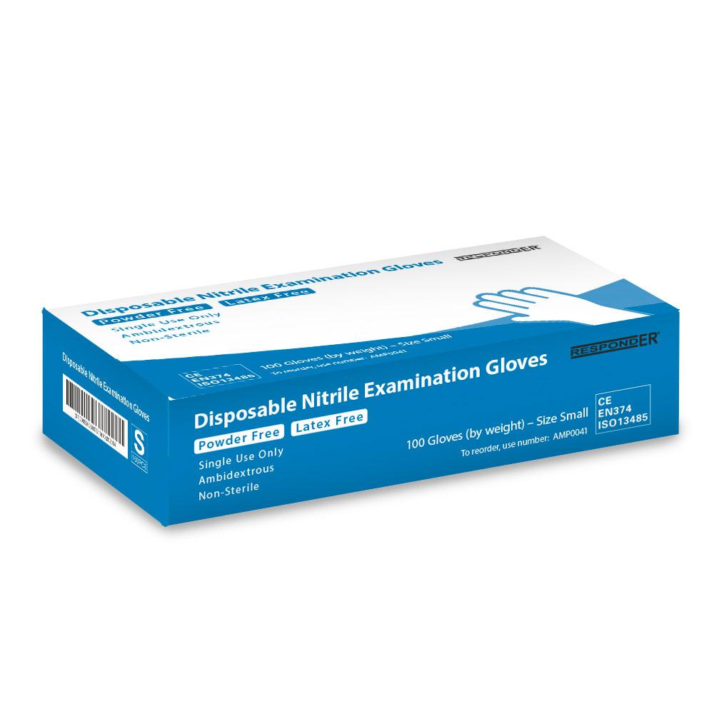 RespondER® Nitrile Exam Gloves - 100/Box (Various Sizes)