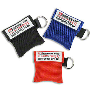CPR Barrier/Face Shield Keychains