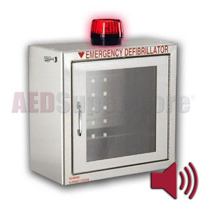 Compact Size Stainless Steel AED Cabinet With Audible Alarm And Strobe Light