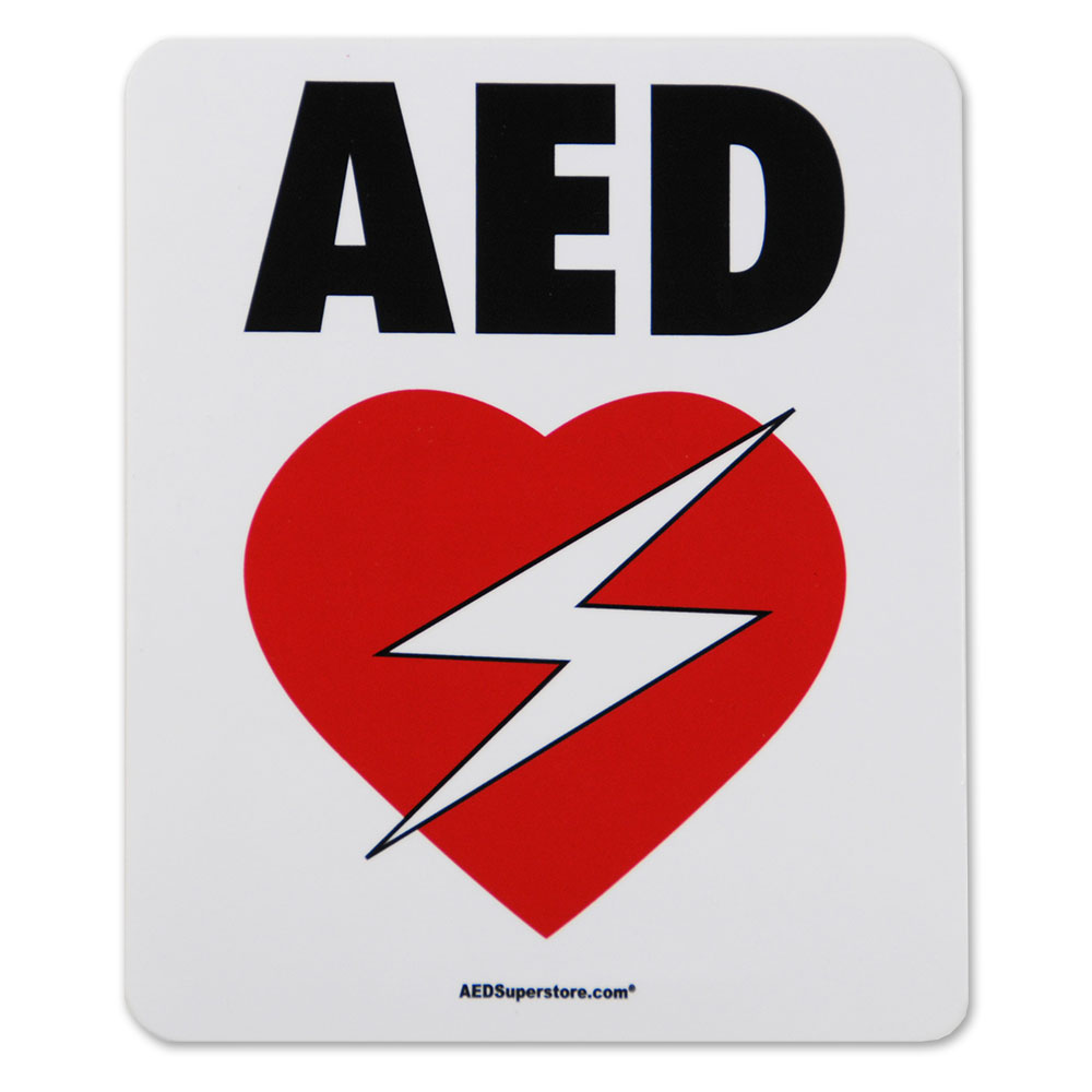High-Performance Weatherproof Vinyl AED Decal (6