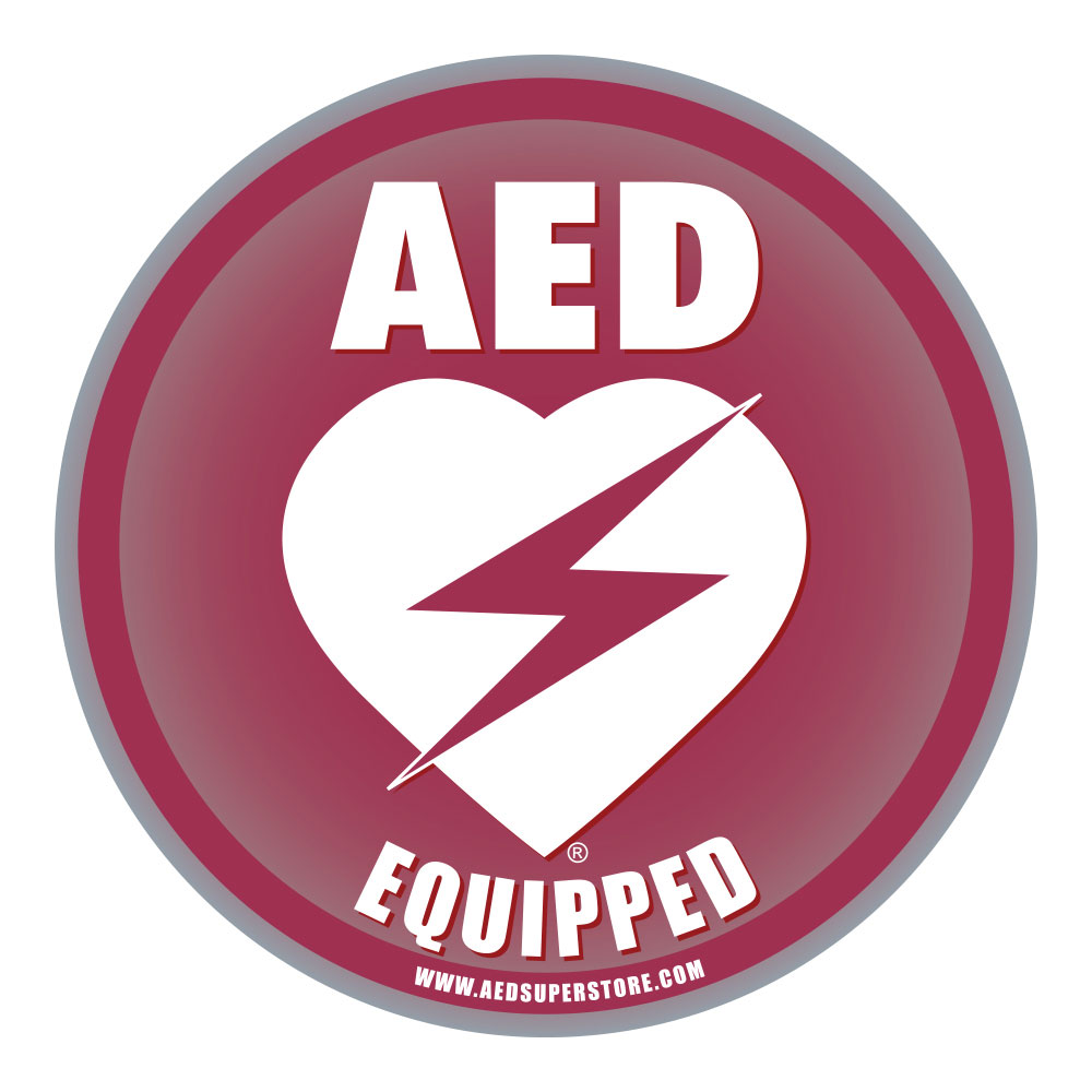 AED Equipped Facility Window/Wall Decal - 6
