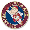 Flying RespondER® Man CPR/AED/First Aid Certification Pin - 1