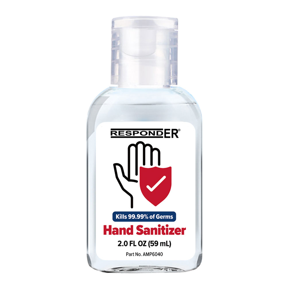 New ProductRespondER Antiseptic Hand Sanitizer 2.0 oz - 70% Ethyl Alcohol - 12 or 48/Box