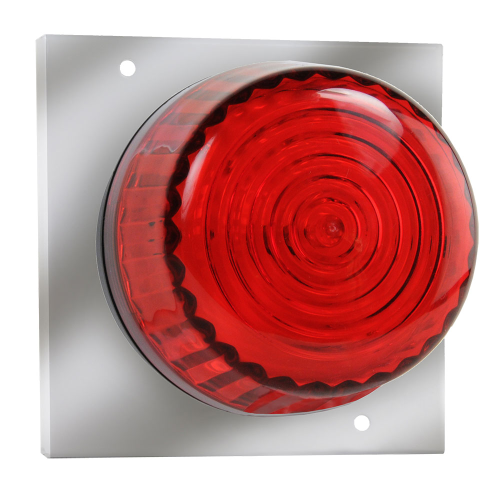 Strobe Light with Mounting Plate for Recessed AED Cabinets (Stainless Steel)