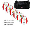 Red Cross AED Training Device w/Metronome & Carrying Case 6-Pack