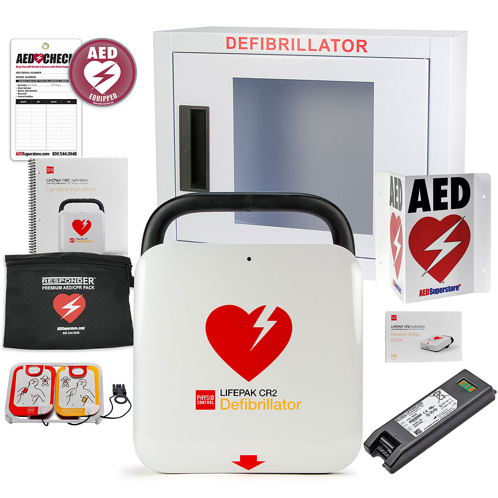 Physio-Control LIFEPAK® CR2 AED Small Business Value Package