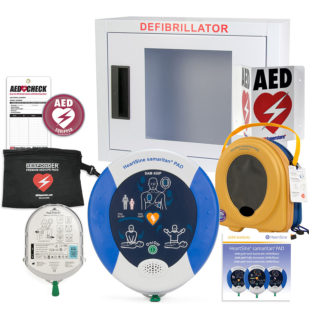 HeartSine samaritan PAD 450P AED Small Business Value Package