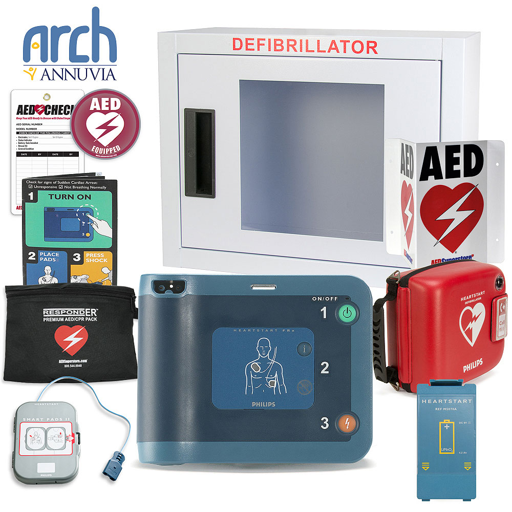 Philips HeartStart FRx AED Corporate Value Package (Includes RespondER® Premium Items)
