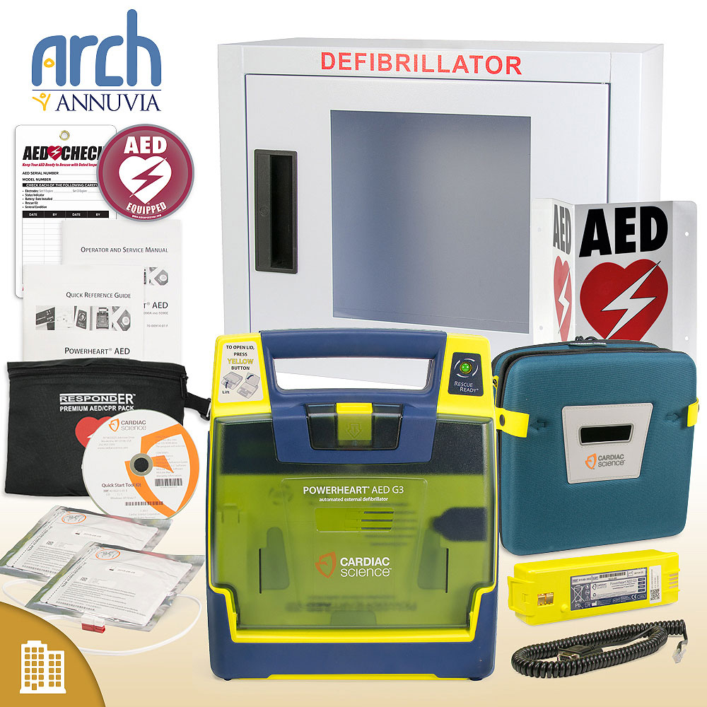Cardiac Science Powerheart AED G3 Plus Corporate Value Package