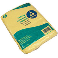 Universal Fluid-Resistant Isolation Gown Yellow - 50/Box
