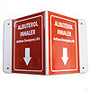 Allergy Emergency Kit™ 3D Albuterol Inhaler Wall Sign w/Arrow