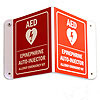 Allergy Emergency Kit™ 3D Epinephrine/AED Wall Sign w/Arrow