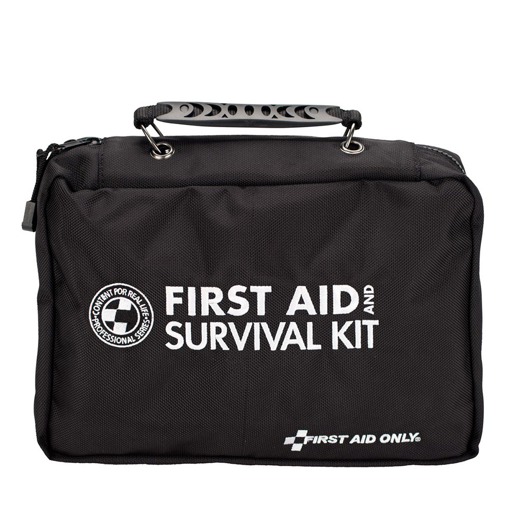 FAO 168 Piece Emergency Survival Kit, Professional Grade Nylon Case w/Clear-Pocket Pages