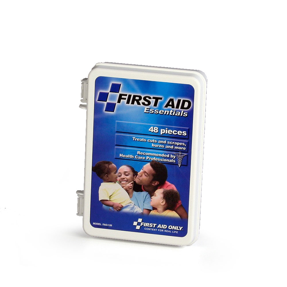 FAO All Purpose First Aid Kit 48 Piece All Purpose Kit, w/Plastic Case