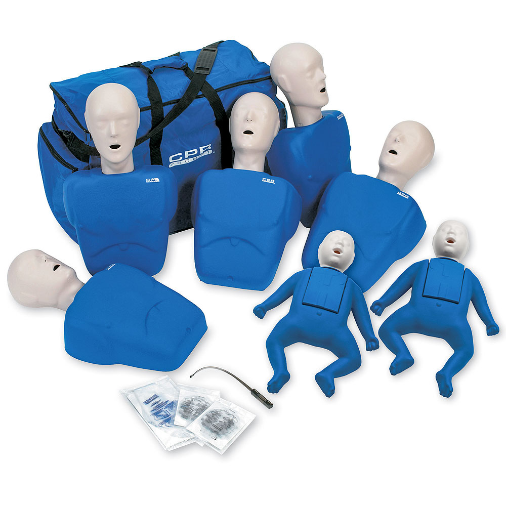 CPR Prompt® 7 Packs: 5-Adult/Child & 2-Infant Combo Pack BLUE