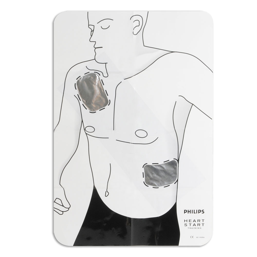 philips adult pad placement guide - aed superstore